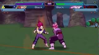 dragon ball shin budokai 2 mod Vegata SSG vs Goku Black SSJ Rose