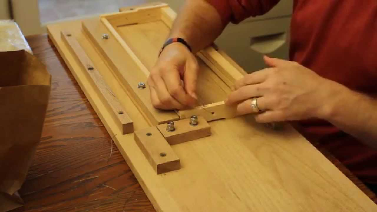 hight resolution of beekeeping lessons traditional frame making part 2 cross wiring the frames youtube
