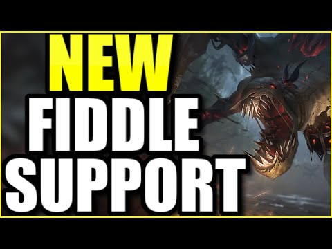 (WORLD'S FIRST) FIDDLESTICKS SUPPORT FULL GAMEPLAY! | FIRST FULL MATCH OF THE *NEW* CHAMPION REWORK