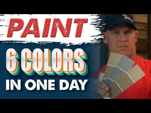 Paint 6 colors in 2 rooms in 1 day.How to paint a room super fastng walls quick.