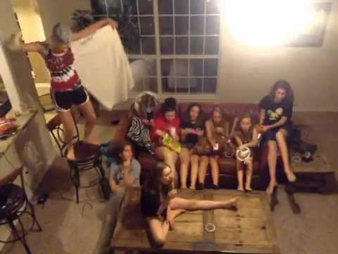Teenage girl sleepover harlem shake