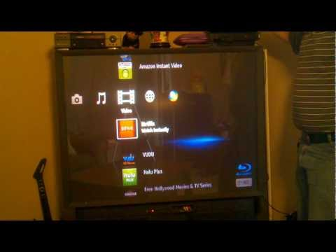Sony BlueRay player to watch  on the big screen TV