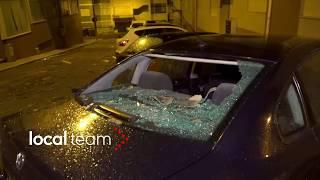 Uragano Leslie, auto distrutte ed edifici gravemente danneggiati