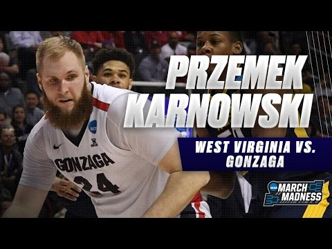 Przemek Karnowski helps Gonzaga defeat West Virginia in Sweet 16