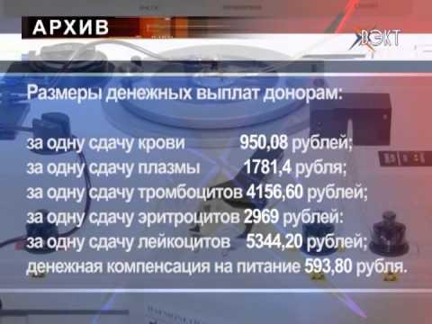 Денежные выплаты увеличены донорам Воскресенского района