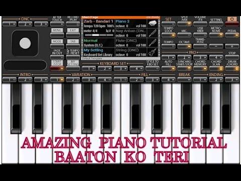 piano tutorial -Baaton Ko Teri- music-ALL is WELL MOVIE-Arijit Singh