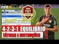 FIFA 19 | FORMAÇÃO 4-2-3-1 (equilibrio ouro 1) , TÁTICAS PERSONALIZADAS E INSTRUÇÕES