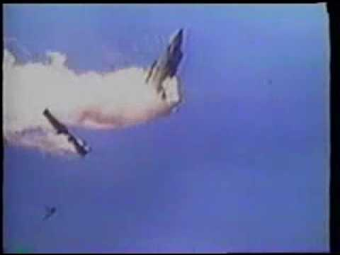 Patriot missile hits the plane