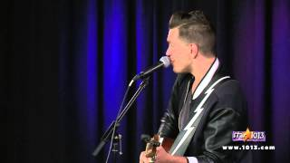 Andy Grammer performs live inside the WesternUnion com VIP Lounge