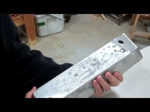 Melted Aluminum Ingot weighed and number of cans estimate