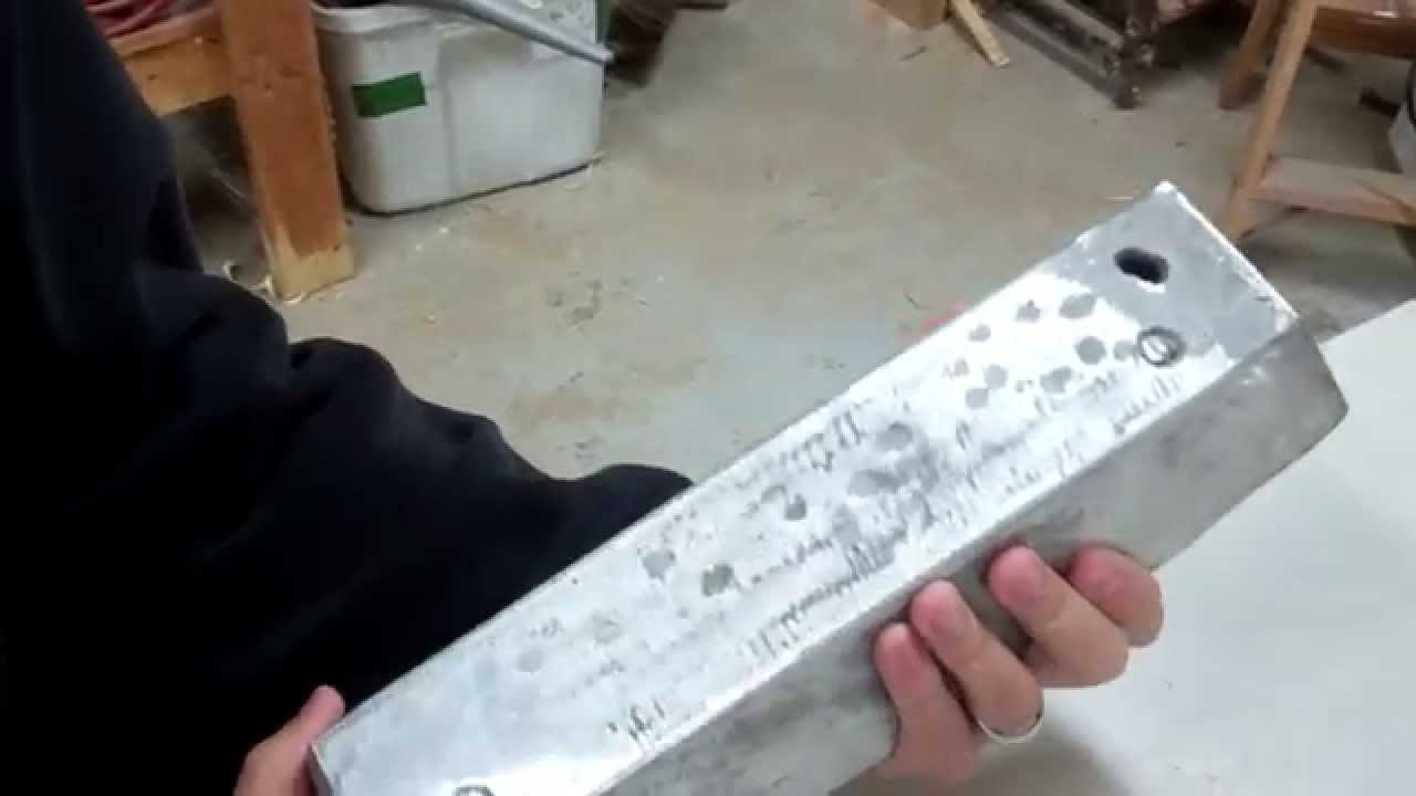 melted aluminum ingot weighed and number of cans estimate youtube