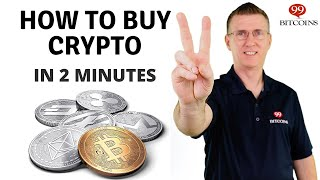 How to Buy Cryptocurrency (in 2 minutes) - 2020 Updated