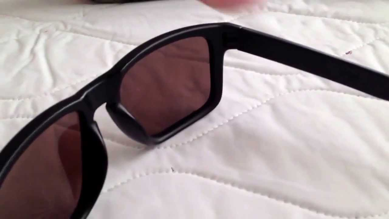 2d0f097194 Custom Oakley Holbrook Sunglasses - OO Black Iridium Polarized Lenses -  YouTube