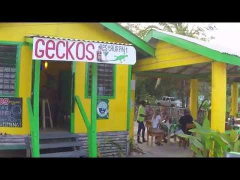 Geckos Restaurant, Hopkins, Belize, Central America
