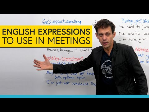 Professional English: Expressions to use in business & office meetings