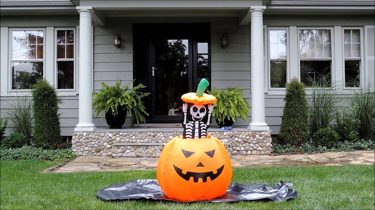 Airblown halloween inflatable animated lighted pumpkin