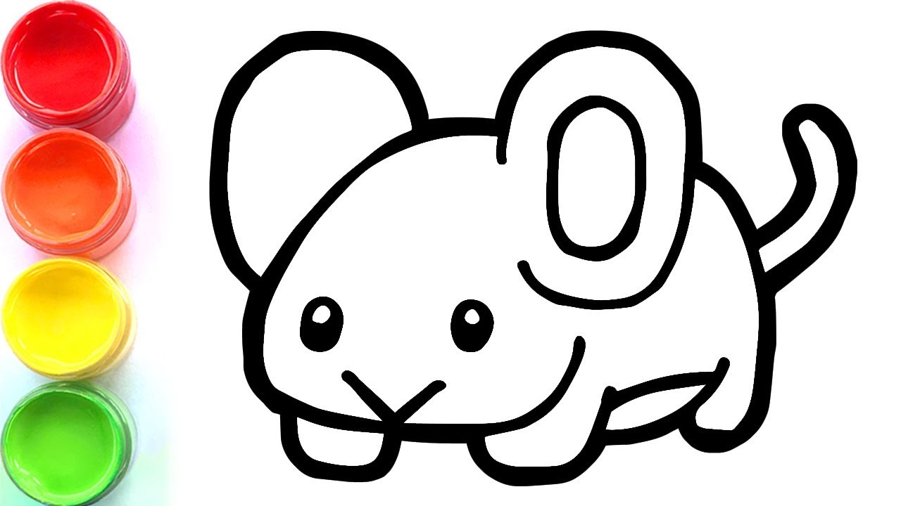 Coloring Cute Mouse And Drawing For Toddlers Kids