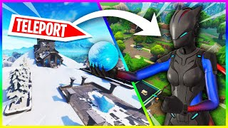 SNOWBALL IS A TELEPORT! SEE HOW! -GLITCH (Fortnite Battle Royale)