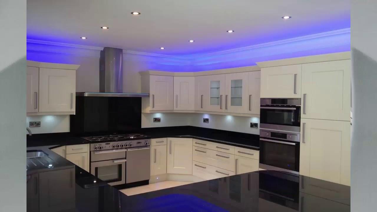 moderne küchenbeleuchtung   haus ideen - youtube