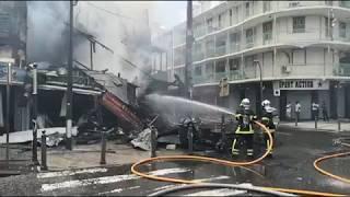 Incendie impressionnant à Pointe-à-Pitre
