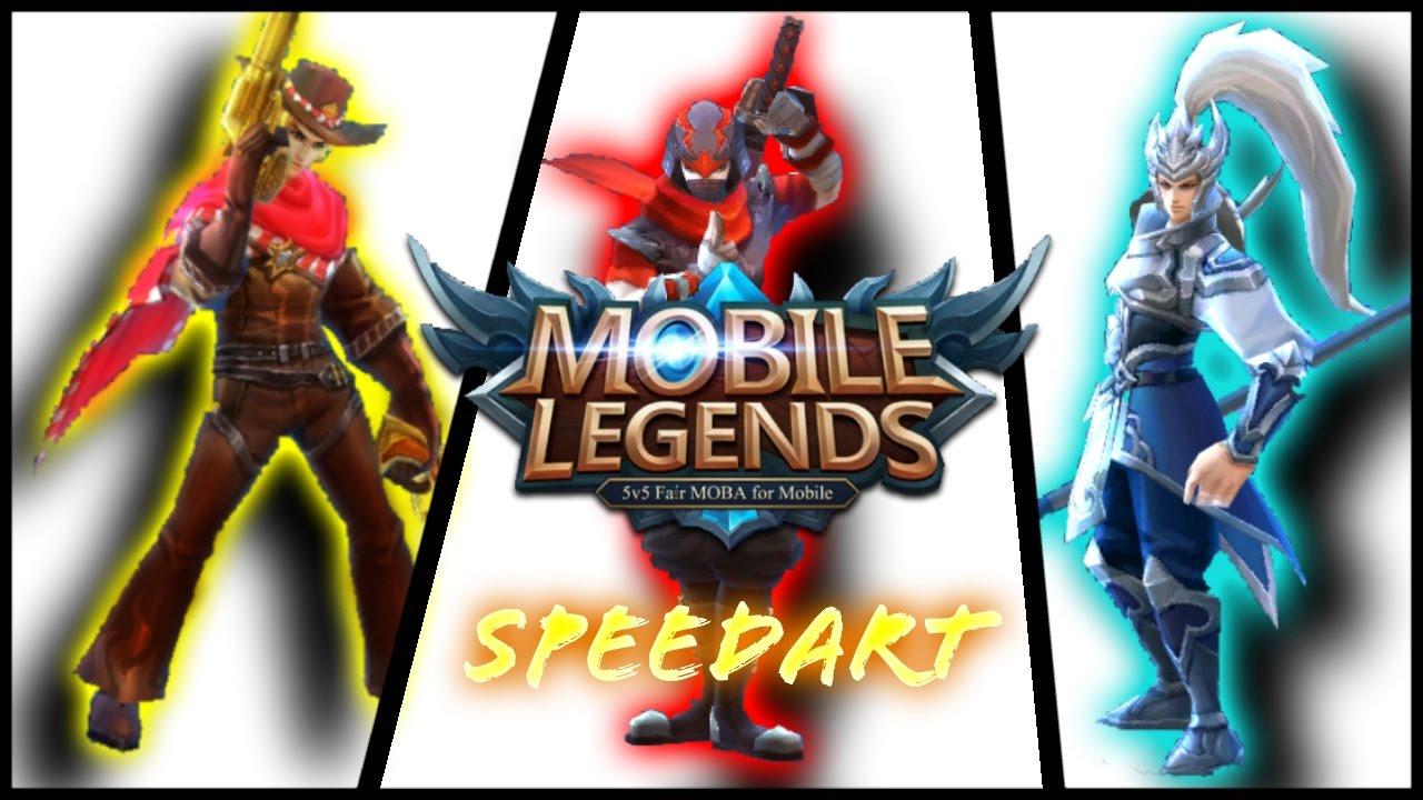 Mobile Legends Speedart [Hayabusa, Clint, and Yun Zhao]