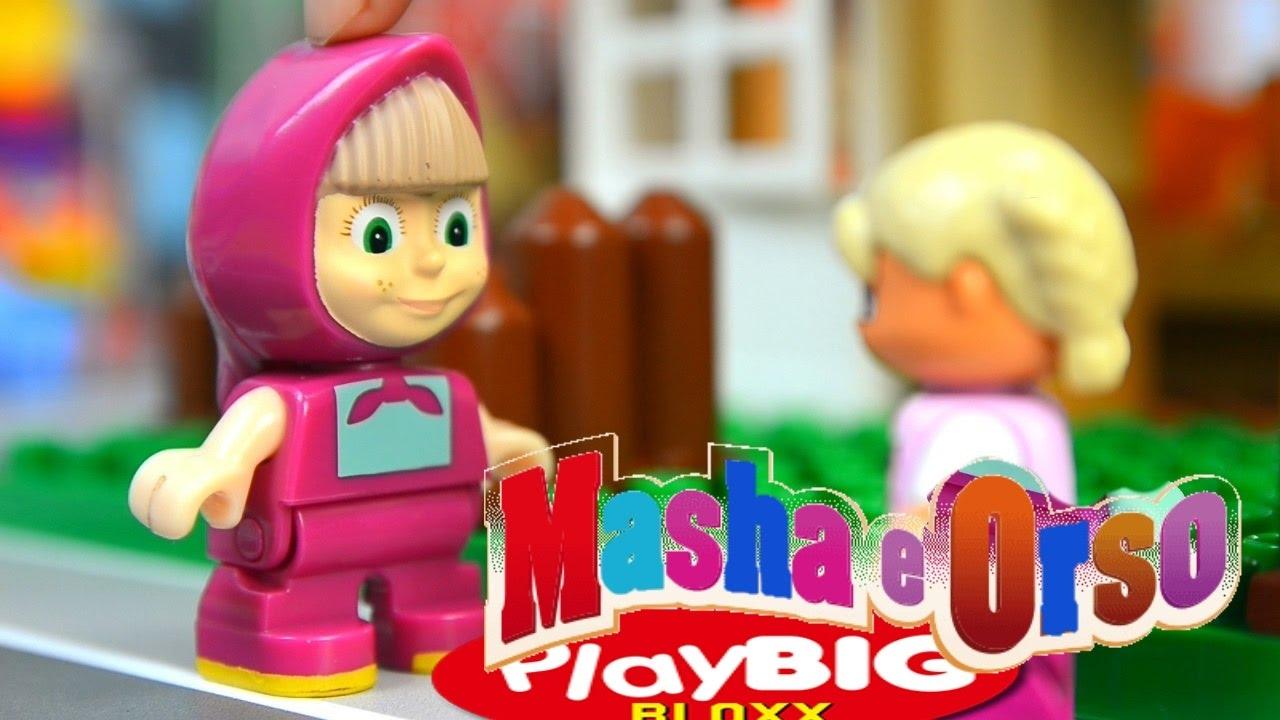 Masha e orso episodio una torta per tutti mattoncini
