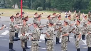 Тренировка роты почетного караула Минск