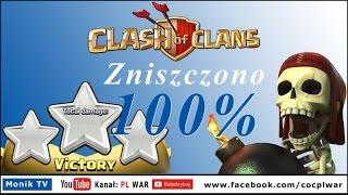 Clash of Clans PL WAR - Atak GOWIWI TH10 - 100% zniszczeń, 3 gwiazdki