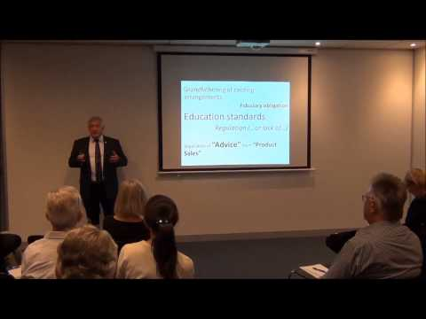 "Hewison Private Wealth Investor Insight Seminar  ""Financial Services Reform"""