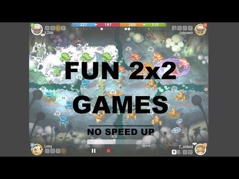 Mushroom Wars 2 | Fun 2x2 games 1x speed | T_ormoz & X.Zibit  vs.  Lomy & Lejyonetr |