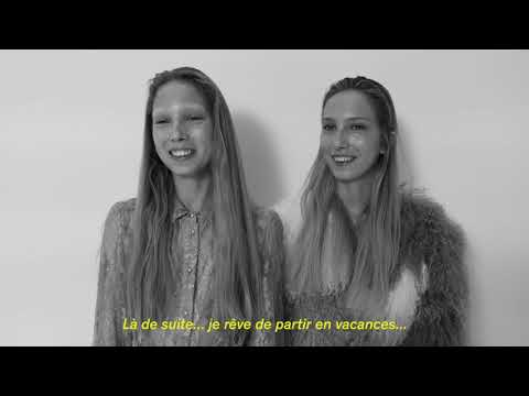L'Officiel presents the new faces Sasha and Sonia Komarova wearing Paul & Joe