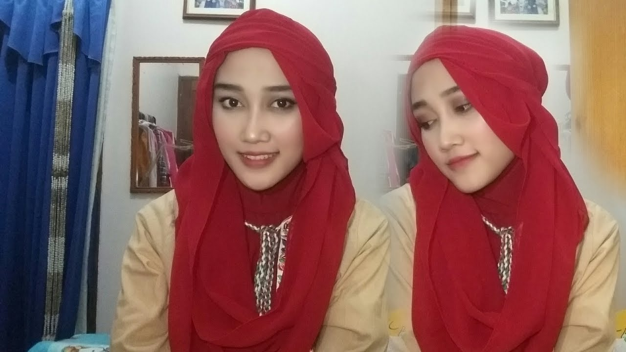 Tutorial Hijab Pashmina Ala Arabian YouTube