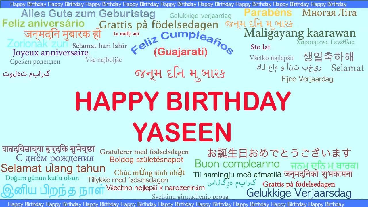 Yaseen Languages Idiomas Happy Birthday