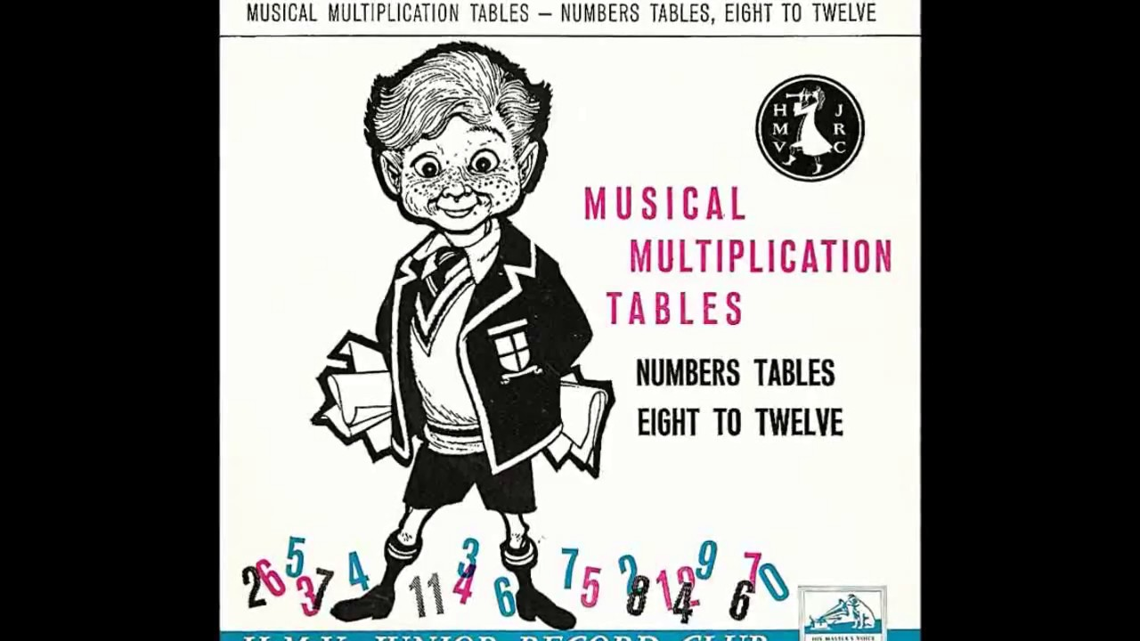 Musical Multiplication Tables 8 To 12 1960 Youtube