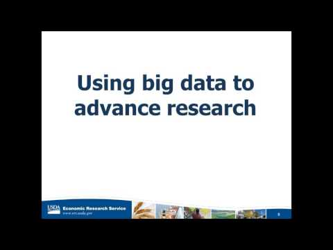 Big Data : Mary Bohman, Administrator of the USDA Economic Research Service