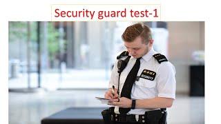 Security guard test set-1