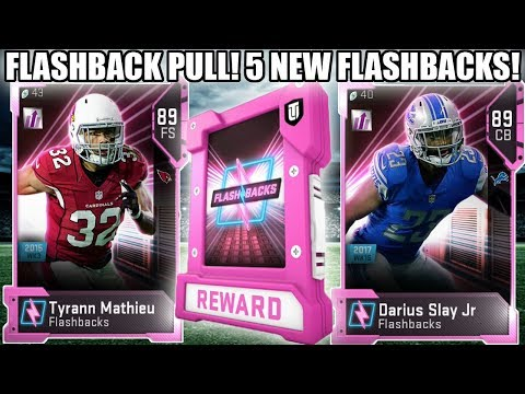 5 NEW FLASHBACKS! FLASHBACK PULL! HONEYBADGER, SLAY, LEE AND MORE! | MADDEN 19 ULTIMATE TEAM
