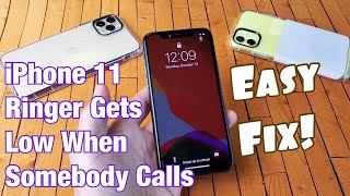If your iphone 11, 11 pro or max has an issue where the ringer for incoming calls gets really low dim that is because phone detecting f...
