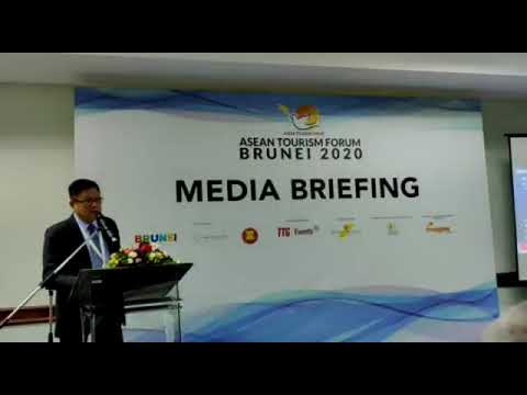 Ng Darren, MD of TTG Asia  addressing the media at ATF2020 Beunei... FB and YouTube