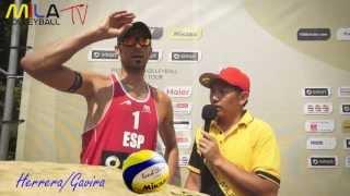 Mila Beach Report mit Pablo Herrera Allepuz und Adrián Gavira Collado. Grand Slam Berlin 2013