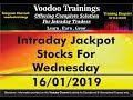 Intraday Jackpot Trading Tips For Wednesday - 16/01/2019