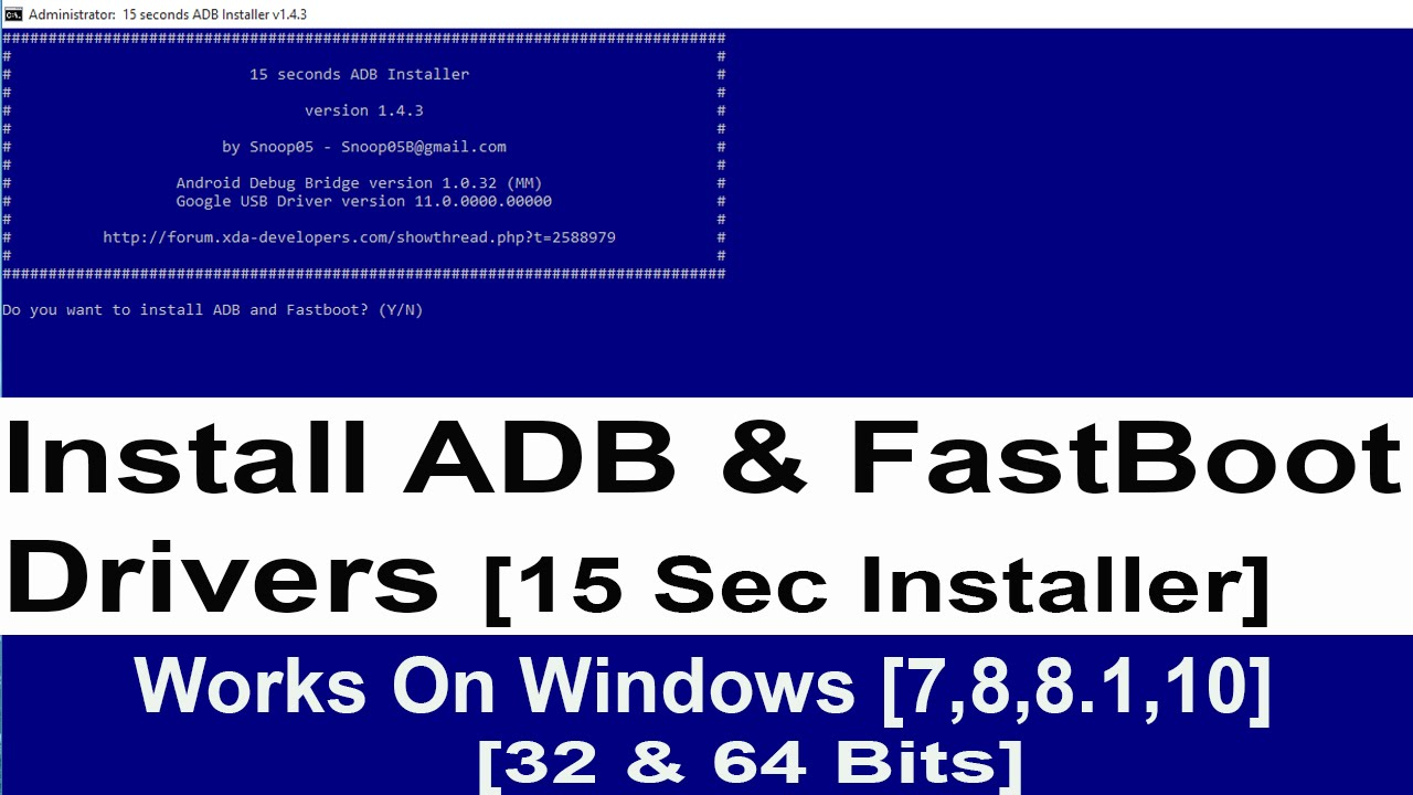 maxresdefault Download ADB and Fastboot tool on Windows 7/8/8.1/10 PC