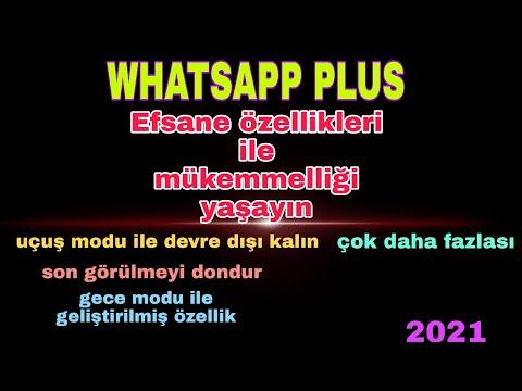 Whatsapp plus özellikleri 2021