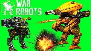 Боевые Роботы War Robots#38 Обзор робота Destrier Битва LEO, GRIFFIN NATASHA новичкам много оружия