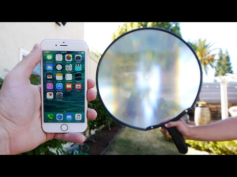 What Does a Giant Magnifying Glass Do To an iPhone 6S?