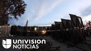 Refuerzan seguridad en la garita de San Ysidro ante la llegada de los migrantes de la caravana