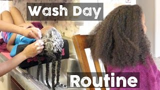 Natural Hair ▸ Full Wash Day Routine for Little Girls
