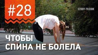 №28. Упражнение ЧТОБЫ НЕ БОЛЕЛА СПИНА  от чемпионки мира по фитнесу Марии Попретинской.