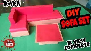 Kağıt kanepe /AJ kağıt ve ahşap set yapmak için nasıl DİY koltuk takımı: