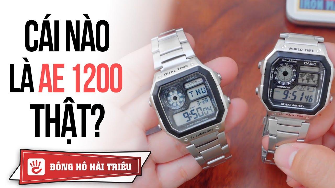 So sánh đồng hồ CASIO AE 1200 với SKMEI 1335 mua tại LAZADA giá 100K – Quá giống nhau